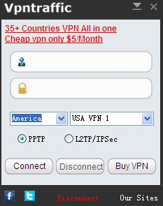 VpnTraffic All in One Client full screenshot